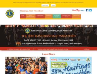 hastings-half.co.uk screenshot