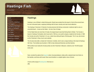 hastingsfish.co.uk screenshot
