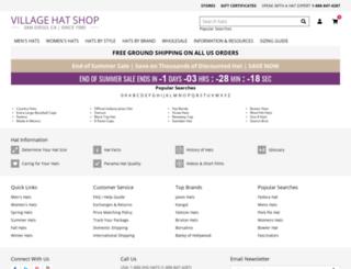 hat.villagehatshop.com screenshot