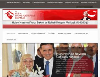 hatayhuzurevi.gov.tr screenshot