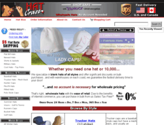 hatcraze.com screenshot