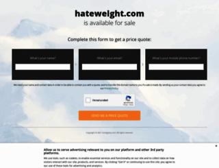 hateweight.com screenshot