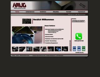 haug-oberflaechentechnik.de screenshot