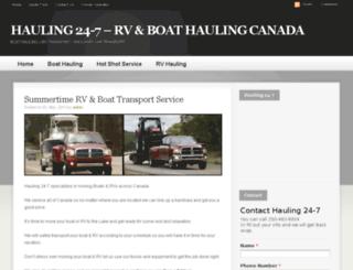 hauling247.com screenshot