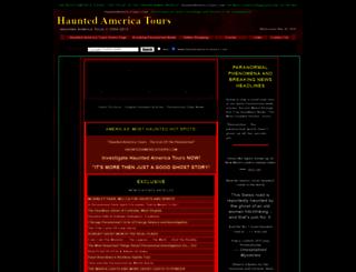 hauntedamericatours.com screenshot