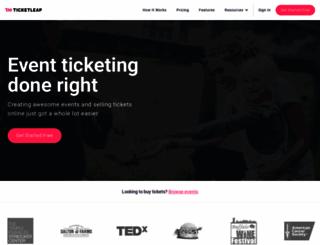 hauntedblakes.ticketleap.com screenshot