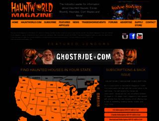 hauntedhousemagazine.com screenshot