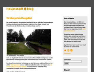 hauptstadtblog.de screenshot