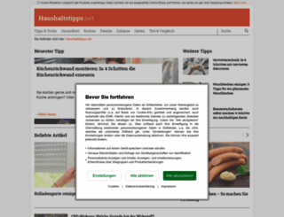 haushaltstipps.net screenshot