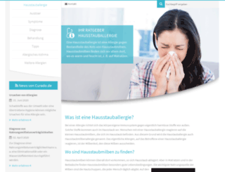 hausstauballergie.org screenshot