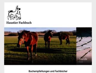 haustier-fachbuch.de screenshot
