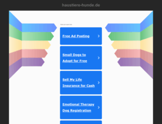 haustiere-hunde.de screenshot