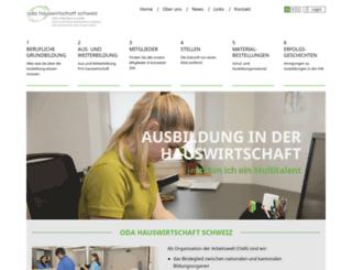 hauswirtschaft.ch screenshot