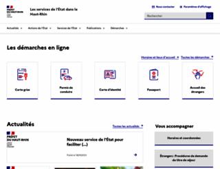 haut-rhin.pref.gouv.fr screenshot