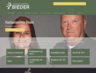 hautaustoimistobieder.fi screenshot