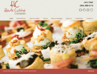hautecuisinecaterers.com screenshot
