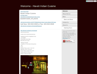 haveli.moonfruit.com screenshot