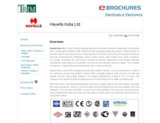 havells-india.industrialregister.in screenshot