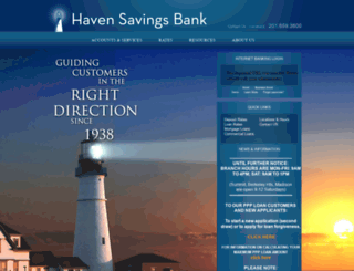 havensavingsbank.com screenshot