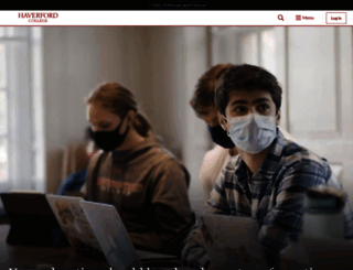 haverford.edu screenshot