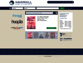 haverhill.mvlc.org screenshot