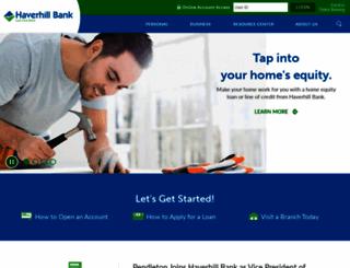 haverhillbank.com screenshot