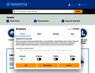 havering.gov.uk screenshot