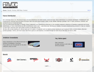 havoc-distribution.com screenshot