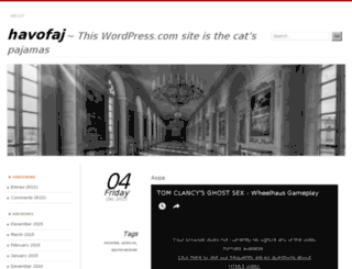 havofaj.wordpress.com screenshot