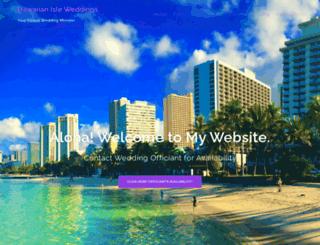 hawaiianisleweddings.com screenshot