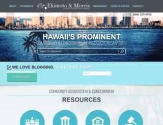 hawaiicondolaw.com screenshot