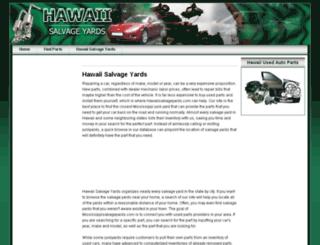 hawaiisalvageyards.com screenshot