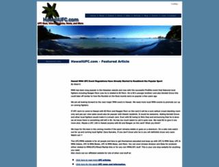 hawaiiufc.com screenshot