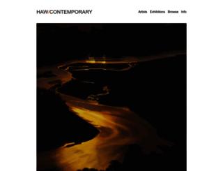 hawcontemporary.com screenshot