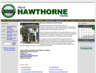 hawthornefl.virtualtownhall.net screenshot