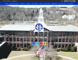 hawthorneps.schoolwires.net screenshot