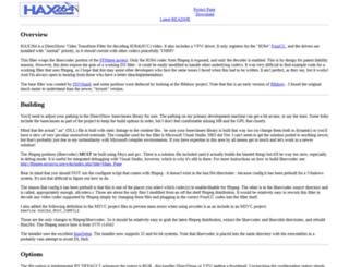 hax264.sourceforge.net screenshot