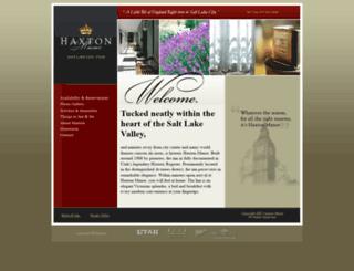 haxtonmanor.com screenshot