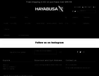 hayabusa.com.au screenshot