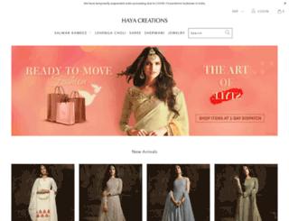 hayacreations.com screenshot