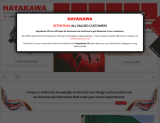 hayakawa.co.uk screenshot