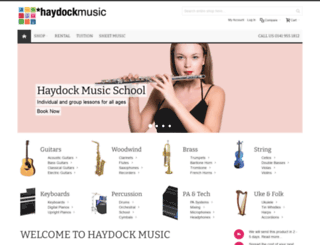 haydockmusic.co.uk screenshot
