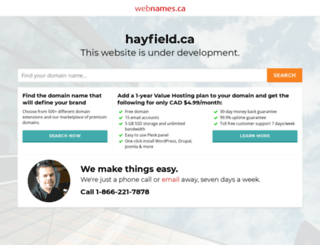 hayfield.ca screenshot