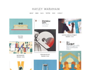 hayleywarnham.com screenshot