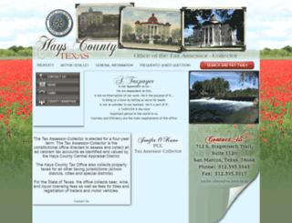 hayscountytax.com screenshot
