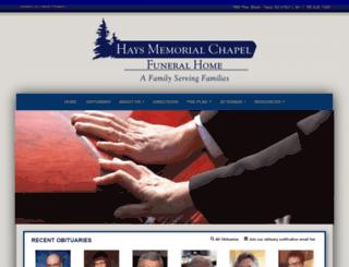 haysmemorial.com screenshot