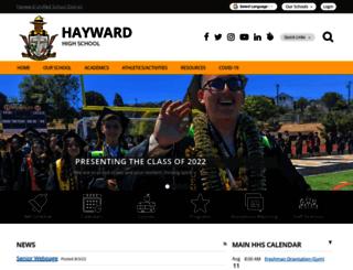 haywardhigh.net screenshot