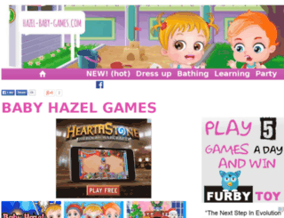 hazel-baby-games.com screenshot