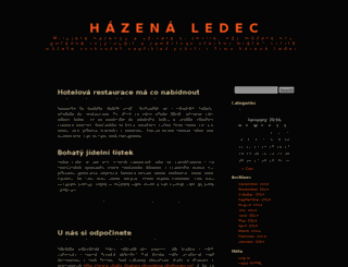 hazenaledec.cz screenshot