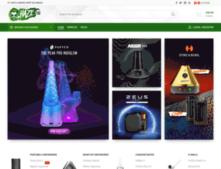 hazesmokeshop.ca screenshot
